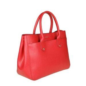 Furla Mediterranean Bag in Red Leather